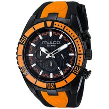 Mulco MW51836615 Unisex Titans Wave Chronograph Black Dial Black Silicone Watch