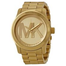 Runway Quartz Gold-tone Bracelet Champagne Dial Ladies Watch