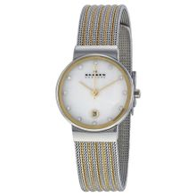 Skagen 355SSGS Ancher Womens Mop Dial Analog Quartz Stainless Steel Watch