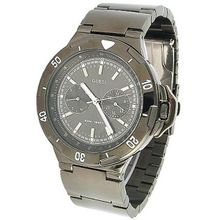 Guess U15004G1 Mens Black Dial Analog Quartz Watch with Stainless Steel Strap