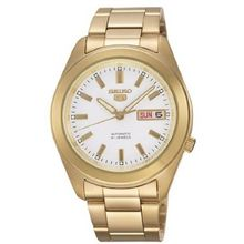 Mens Watch Seiko SNKM72 Seiko 5 Seiko 5 Automatic Gold Tone Stainless Steel Case