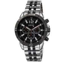 August Steiner AS8111SSB Mens Black Dial Quartz with Stainless Steel Strap Watch