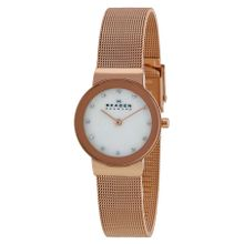 Skagen 358SRRD Freja Womens Mop Dial Analog Quartz Stainless Steel Watch