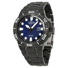 Citizen BN0095-59L Mens Blue Dial Analog Quartz Watch with Stainless Steel Strap