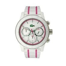 Lacoste 2000843 Womens White Dial Analog Quartz Watch with Rubber Strap