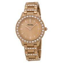 Fossil ES3020 Womens Rose Gold Dial Analog Quartz Watch