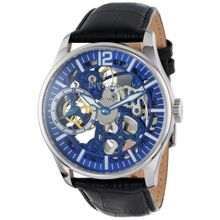 Invicta Vintage 12404 Mens Blue Dial Analog Mechanical Watch with Leather Strap