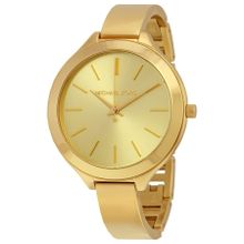 Slim Runway Champagne Dial Gold-tone Ladies Watch