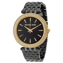 Michael Kors MK3322 Womens Black Dial Analog Quartz Watch