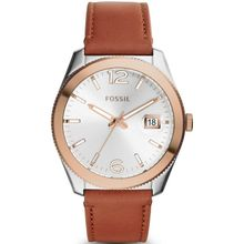 Women's Fossil Perfect Boyfriend Leather Strap Watch ES3827