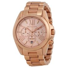 Michael Kors MK5503 Womens Bradshaw Rose-Gold Stainless-Steel Quartz Watch