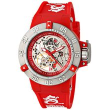 Invicta 16781 Womens Red Dial Analog Mechanical Watch with Silicone Strap