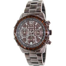 Guess U0016L4 Mens Brown Dial Analog Quartz Watch with Stainless Steel Strap