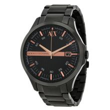 Black Dial Black Ion-plated Men's Watch