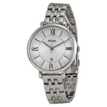 Fossil ES3433 Jacqueline Womens Silver Dial Analog Quartz Stainless Steel Watch
