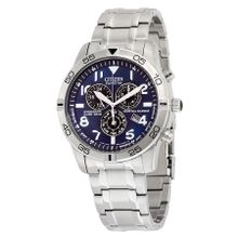 Citizen BL5470-57L Mens Blue Dial Analog with Stainless Steel Strap Watch