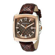 Tommy Bahama 10018311 Mens Brown Dial Analog Quartz Watch with Leather Strap