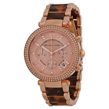 Michael Kors MK5538 Womens Pink Dial Analog Quartz Watch