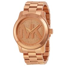 Runway Rose Dial Rose Gold-plated Ladies Watch