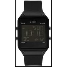 Guess U0595G1 Men's Black Guess Sleek Digital Silicone Strap Watch