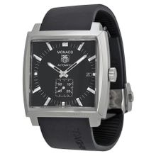Tag Heuer WW2110.FT6005 Mens Black Dial Analog Automatic Watch with Rubber Strap