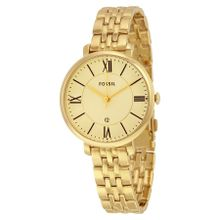 Fossil ES3434 Womens Gold Dial Analog Quartz Stainless Steel Watch