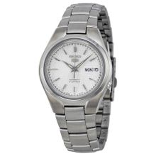 Seiko SNK601 Mens Silver Dial Analog Automatic Watch with Stainless Steel Strap