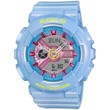 Casio BABY-G BA-110CA-2A Womens Analog & Digital Quartz Light Blue Watch