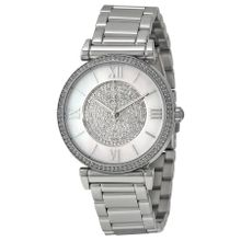 Michael Kors MK3355 Womens Silver Dial Analog Quartz Watch