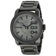 Diesel DZ1558 Mens Grey Dial Analog Quartz Watch with Stainless Steel Strap