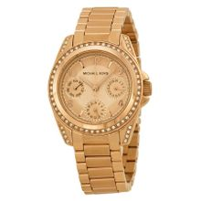 Michael Kors MK5613 Womens Rose Gold Dial Analog Quartz Watch