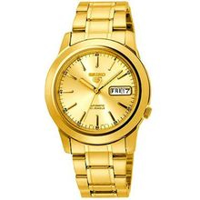 Seiko SNKE56K Mens Gold Dial Analog Automatic Watch with Gold Strap