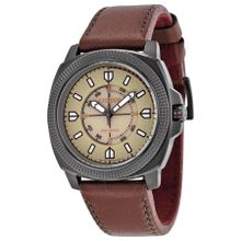 CTO Eco-Drive Tan Dial Brown Leather Men's Watch