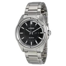 Citizen Htm AW0031-52E Mens Black Dial Analog Watch with Stainless Steel Strap