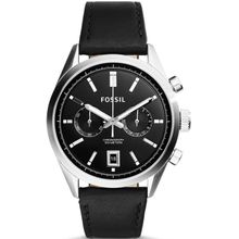 Men's Fossil Del Rey Chronograph Leather Strap Watch CH2972