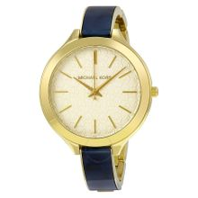 Michael Kors MK4309 Womens Gold Dial Analog Quartz Watch with Resin Strap