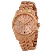 Michael Kors MK5569 Womens Rose Gold Dial Analog Quartz Watch