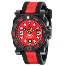 Reactor 73811 Mens Red Dial Analog Quartz Watch