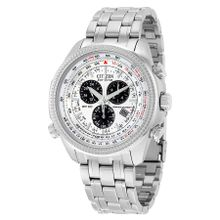 Citizen BL5400-52A Mens Silver Dial Analog Watch with Stainless Steel Strap