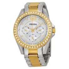 Fossil ES3204 Womens Silver Dial Analog Quartz Watch with Stainless Steel Strap