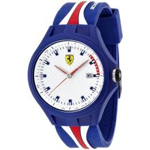 Ferrari 830070 Mens White Dial Analog Quartz Watch with Rubber Strap