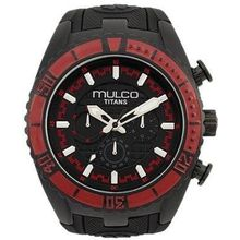 Mulco MW51836065 Unisex Titans Wave Chronograph Black Dial Black Silicone Watch