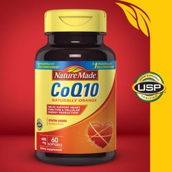 Nature Made CoQ10 400 mg, Naturally Orange - 60 Softgels
