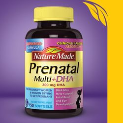 Nature Made Prenatal Multi + Dha, 200mg, 150 Softgels