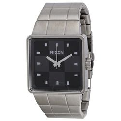 Nixon A013000 Mens Black Dial Analog Quartz Watch with Stainless Steel Strap