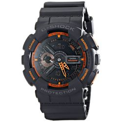 Casio GA110TS-1A4 Mens G-Shock Black Dial Dual Quartz Resin Strap Watch