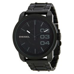 Diesel DZ1371 Mens Black Dial Analog Quartz Watch with Stainless Steel Strap
