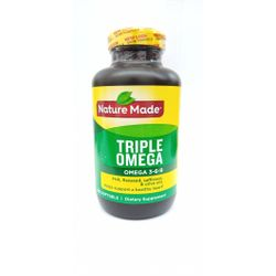 Nature Made Triple Omega, Fish, Flaxseed, Safflower & Olive Oils - 180 Softgels