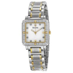 Bulova 98R112 Womens Mop Dial Analog Quartz Watch with Stainless Steel Strap