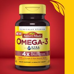 Nature Made Omega-3 Xtra Absorb, 80 Softgels